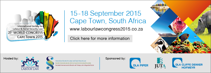 World labour law Congress 2015 banner